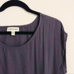 Anthropologie Cloth & Stone T-Shirt Tunic Dress, L